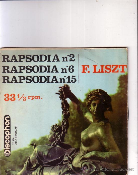 RAPSODIA Nº 2, Nº 6, Nº 15-F. LISZT, RAYMOND TROUARD (PIANO) (Música - Discos - Singles Vinilo - Clásica, Ópera, Zarzuela y Marchas)