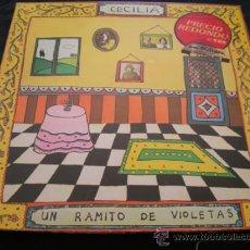 Disques de vinyle: LP CECILIA // UN RAMITO DE VIOLETAS // DOBLE PORTADA. Lote 188623075