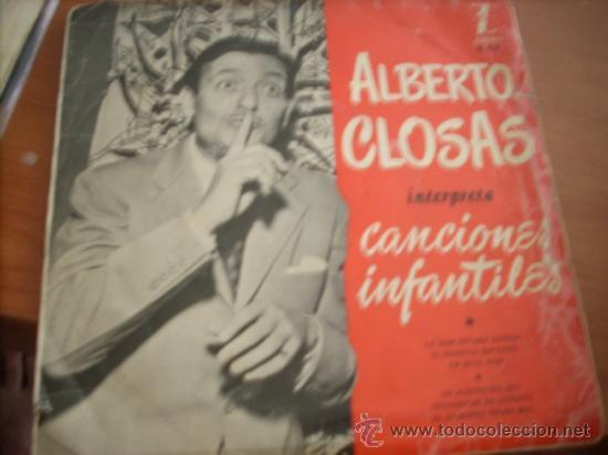 ALBERTO CLOSAS: INTERPRETA CANCIONES INFANTILES *ZAFIRO (Música - Discos - Singles Vinilo - Bandas Sonoras y Actores)