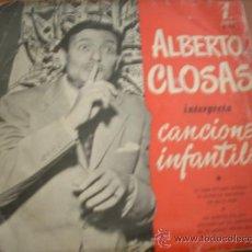 Discos de vinilo: ALBERTO CLOSAS: INTERPRETA CANCIONES INFANTILES *ZAFIRO. Lote 37757013