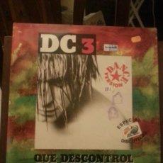 Discos de vinilo: DISCO VINILO DANCE - DC 3 - QUE DESCONTROL - MAXI SINGLE - AÑOS 90. Lote 37746820