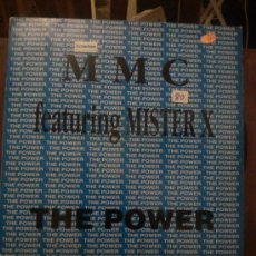 Discos de vinilo: DISCO VINILO TECHNO - MMC FEATURING MISTER X - THE POWER - MAXI SINGLE - AÑOS 90. Lote 44126749