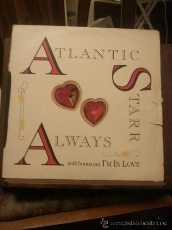 DISCO VINILO - ATLANTIC STARR - ALWAYS - WITH BONUS CUT IM IN LOVE - MAXI SINGLE - AÑOS 90 (Música - Discos de Vinilo - EPs - Techno, Trance y House)