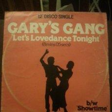 Discos de vinilo: DISCO VINILO - GARYS GANG - SAM - CONVERTION - LETS DO IT - MAXI SINGLE - AÑOS 90. Lote 37746852