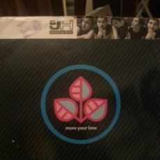 Discos de vinilo: DISCO VINILO - DJ H FEATURING STEFY - MOVE YOUR LOVE - MAXI SINGLE - AÑOS 80. Lote 37746921