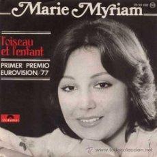 Discos de vinilo: MARIE MYRIAM ··· L'OISEAU ET L'ENFANT / ON GARDE TOUJOURS - (SINGLE 45 RPM) EUROVISION 1977. Lote 37748333