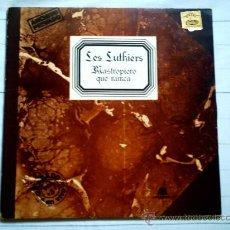 Discos de vinilo: VINILO. LES LUTHIERS MASTROPIERO QUE NUNCA (DOBLE LP). Lote 37750934