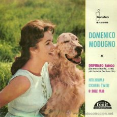 Discos de vinilo: DOMENICO MODUGNO EP SELLO IBEROFON AÑO 1964 EDITADO EN ESPAÑA. Lote 37754759