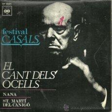 Discos de vinilo: PABLO CASALS EP SELLO CBS AÑO 1970 EDITADO EN ESPAÑA.. Lote 37758074