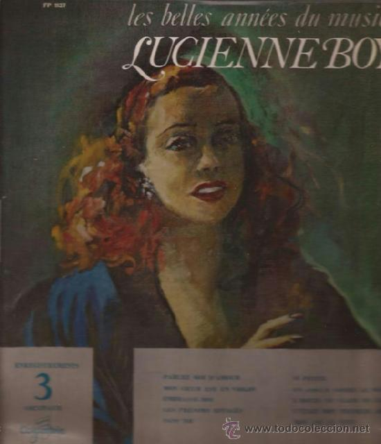 LP-25 CTMS-LUCIENNE BOYER-LES BELLES ANNES DU MUSIC HALL-COLUMBIA 1137-FRANCE-195?? (Música - Discos - LP Vinilo - Canción Francesa e Italiana)