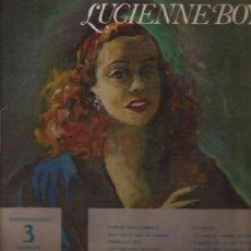 Discos de vinilo: LP-25 CTMS-LUCIENNE BOYER-LES BELLES ANNES DU MUSIC HALL-COLUMBIA 1137-FRANCE-195?? . Lote 37763391