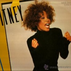 Discos de vinilo: MAXI WHITNEY HOUSTON : WHERE DO BROKEN HEARTS GO . Lote 37768814