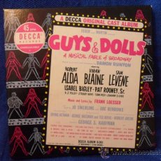 Discos de vinilo: GUYS & DOLLS. A MUSICAL FABLE OF BROADWAY. ESTUCHE CON 7 SINGLES DE VINILO. DECCA RECORDS. U.S.A. 45. Lote 37768844
