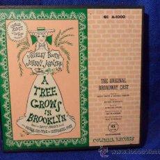 Discos de vinilo: A TREE GROWS IN BROOKLYN. THE ORIGINAL BROADWAY CAST. ESTUCHE CON 8 SINGLES DE VINILO. SHIRLEY BOOTH. Lote 37771321