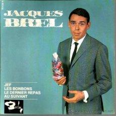 Discos de vinilo: EP JACQUES BREL : JEF . Lote 37773508