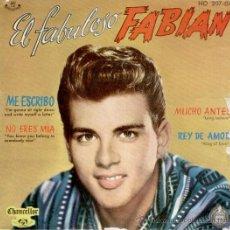 Discos de vinilo: FABIAN & LOS CUATRO FABULOSOS - ME ESCRIBO + 3 EP SPAIN 1961 VG / VG++. Lote 37782261