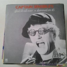 Discos de vinilo: CAPTAIN SENSIBLE´S - GLAD IT´S ALL OVER - PUNK (PEDIDO MINIMO 6 EUROS). Lote 37788221