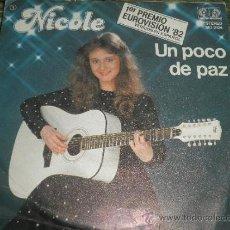 Discos de vinilo: NICOLE - UN POCO DE PAZ SINGLE - 1ER PREMIO EUROVISION 82 - ORIGINAL ESPAÑA - JUPITER 1982 -. Lote 37795635