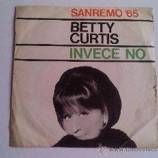 Discos de vinilo: BETTY CURTIS - SANREMO'65. Lote 37805210