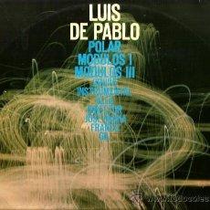 Discos de vinilo: LP LUIS DE PABLO & ALEA : POLAR - MODULOS 1 - MODULOS 3. Lote 37806662