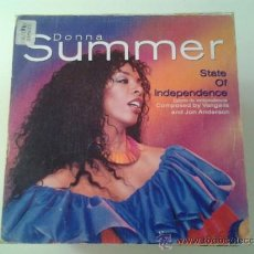 Discos de vinilo: DONNA SUMMER - STATE OF INDEPENDENCE (PEDIDO MINIMO 6 EUROS). Lote 37818498