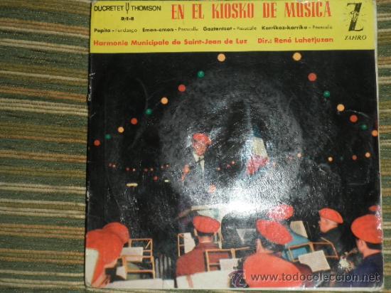 Discos de vinilo: HARMONIE MUNICIPALE DE SAIN-JEAN DE LUZ - EN EL KIOSKO DE LA MUSICA EP - ORIGINAL ESPAÑA ZAFIRO 1962 - Foto 12 - 37799465