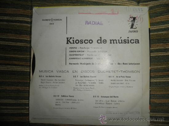 Discos de vinilo: HARMONIE MUNICIPALE DE SAIN-JEAN DE LUZ - EN EL KIOSKO DE LA MUSICA EP - ORIGINAL ESPAÑA ZAFIRO 1962 - Foto 11 - 37799465