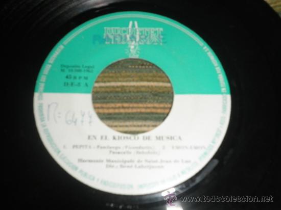 Discos de vinilo: HARMONIE MUNICIPALE DE SAIN-JEAN DE LUZ - EN EL KIOSKO DE LA MUSICA EP - ORIGINAL ESPAÑA ZAFIRO 1962 - Foto 4 - 37799465