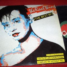 Discos de vinilo: THE REAL THING THE BEST OF LP 1986 PRT PROMO ED ESPAÑOLA SPAIN. Lote 37810184