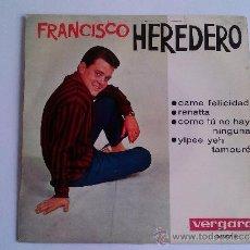Discos de vinilo: FRANCISCO HEREDERO. Lote 37820861