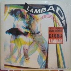 Discos de vinilo: LAMBADA 20 TEMAS PARA BAILAR (DOBLE LP EPIC 1989) KAOMA · COMO NUEVO. Lote 37821414