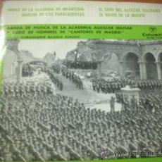 Discos de vinilo: MARCHAS E HIMNOS. BANDA DE MUSICA DE LA ACADEMIA AUXILIAR MILITAR (COLUMBIA, 1959). Lote 37836813