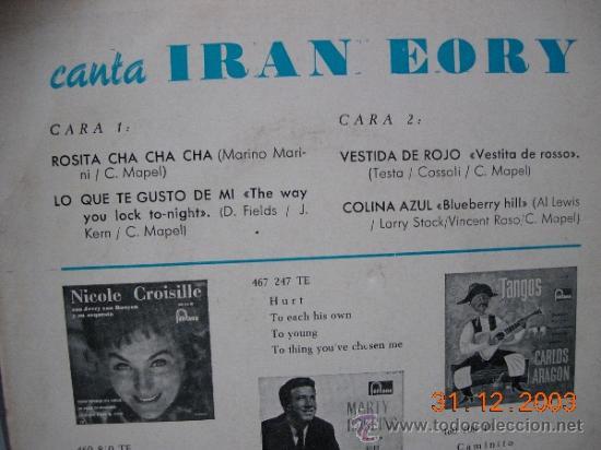 Discos de vinilo: Iran Eory EP Rosita - Foto 2 - 37810405