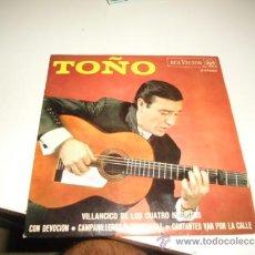 Discos de vinilo: TOÑO - VILLANCICO DE LOS CUATRO NEGRITOS + 3 EP 1967 CHICO 7. Lote 37823897