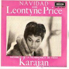 Discos de vinilo: EP NAVIDAD CON LEONTYNE PRICE CON KARAJAN. Lote 37830730