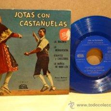 Discos de vinilo: EMMA MALERAS. JOTAS CON CASTAÑUELAS. EP REGAL 1958. VINILO AZUL. MUY BUENA CALIDAD. ***/***. Lote 37837152