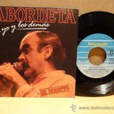 Discos de vinilo: LABORDETA. TU Y YO Y LOS DEMÁS. EN DIRECTO. SINGLE FONOMUSIC, LUJO. ****/****. Lote 37843899