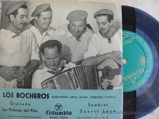 LOS BOCHEROS -EP -COLUMBIA +50 EUROS GASTOS ENVIO GRATIS (Música - Discos - Singles Vinilo - Flamenco, Canción española y Cuplé)