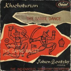 Discos de vinilo: A. KHACHATURIAN: SELECTIONS FROM THE GAYNE BALLET (EP 45 RPM, CAPITOL, 1958). Lote 37845509