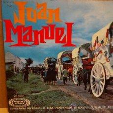 Discos de vinilo: JUAN MANUEL. SEVILLANAS DEL ROCÍO. EP SONO PLAY 1967. BUENA CALIDAD. ***/***. Lote 37849688