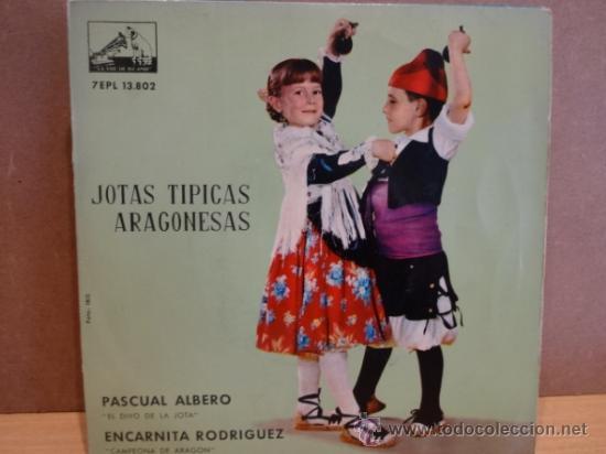 JOTAS TÍPICAS ARAGONESAS. PASCUAL ALBERO / ENCARNITA RODRIGUEZ. EP LA VOZ DE SU AMO 1962. ***/*** (Música - Discos de Vinilo - EPs - Country y Folk)