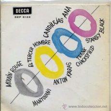 Discos de vinilo: MANTOVANI / MOULIN ROUGE - ANTON KARAS / EL TERCER HOMBRE - STANLEY BLACK / ANA + 1 (EP 1961). Lote 37852402