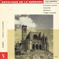 Discos de vinilo: JOAN MANEN (ANTOLOGÍA DE LA SARDANA). COBLA LAIETANA. (EP 45 RPM, VERGARA, 1963). Lote 37853883