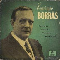 Discos de vinilo: ENRIQUE BORRAS: LA SARDANA / MAR I CEL... EP, 45 RPM, ODEON, 1957. Lote 37853968