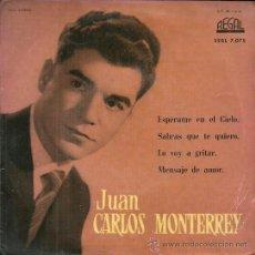Discos de vinilo: JUAN CARLOS MONTERREY EP SELLO REGAL AÑO 1958 EDITADO EN ESPAÑA. Lote 37856360