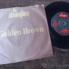 Discos de vinilo: THE STRANGLERS SINGLE GOLDEN BROWN + LOVE 30 MADE IN ENGLAND 1982. Lote 37948645