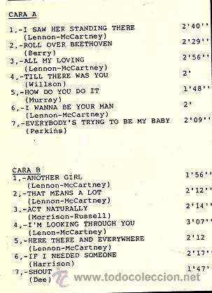 Discos de vinilo: LP THE BEATS ( TEMAS DE LOS BEATLES ) - Foto 2 - 37873310