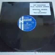 Discos de vinilo: BIT MACHINE FEATURING KAREN JONES ( IT'S TIME(REMIX) 5 VERSIONES ) 'SPECIAL REMIX BY DJ LELEWEL'. Lote 37877212