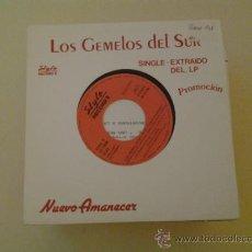 Discos de vinilo: LOS GEMELOS DEL SUR - DESPUES DE HACER EL AMOR - CON ENCARTE PARA PRENSA RADIO (PEDIDO MINIMO 6 E.). Lote 37878108