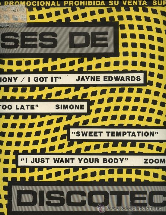 ASES DE DISCOTECA - JAYNE EDWARS, SIMONE, GEM, ZOOM ZOOM (Música - Discos de Vinilo - Maxi Singles - Disco y Dance)